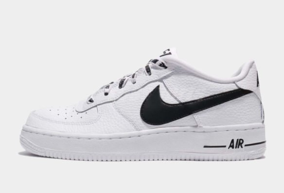 Фото Nike Air Force 1 LV8 NBA бело-черные - 3