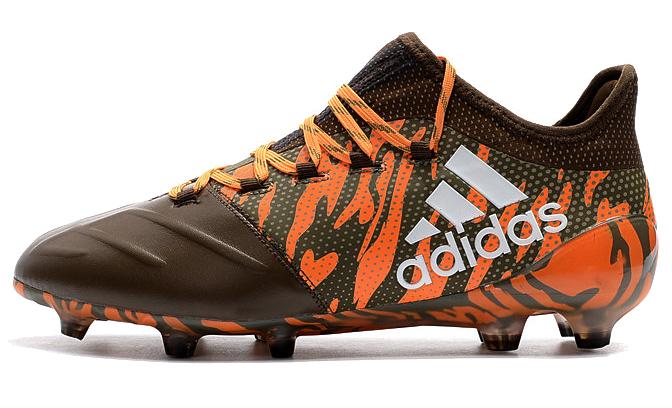 Фото Adidas X 17.1 FG оранжевые с коричневым - 3